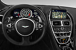 Car pictures of steering wheel view of a 2018 Aston Martin DB11 - 2 Door Coupe Steering Wheel