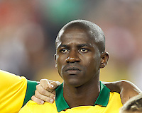 Brazil midfielder Ramires (16). In an international friendly, Brazil (yellow/blue) defeated Portugal (red), 3-1, at Gillette Stadium on September 10, 2013.