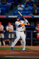 St. Lucie Mets Blake Tiberi (24) during a Florida State League game against the Florida Fire Frogs on April 12, 2019 at First Data Field in St. Lucie, Florida.  Florida defeated St. Lucie 10-7.  (Mike Janes/Four Seam Images)