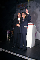 Daniel Johnson avec Robert Bourassa lors de l'hommage qui lui est rendu au congres du PLQ en mars 1994<br /> <br /> <br /> Photo:  Agence Quebec Presse
