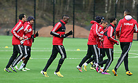 Tuesday 15 January 2013<br /> Pictured: New signing Roland Lamah (C)<br /> Re: Swansea City FC training near the Liberty Stadium ahead of their Cup game against Arsenal at the Emirates Stadium.