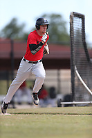 Dillon Besnier (66) of Riverview High School in Apollo Beach, Florida during the Under Armour Baseball Factory National Showcase, Florida, presented by Baseball Factory on June 12, 2018 the Joe DiMaggio Sports Complex in Clearwater, Florida.  (Nathan Ray/Four Seam Images)