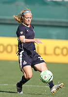 Becky Sauerbrunn #22 of the Washington Freedom during a WPS match against St. Louis Athletica at RFK Stadium on July 18 2009, in Washington D.C. Freedom won the match 1-0.