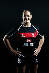 Becky Underwood poses during the Hong Kong 7's Squads Portraits on 5 March 2012 at the King's Park Sport Ground in Hong Kong. Photo by Andy Jones / The Power of Sport Images for HKRFU