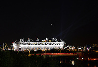 July 22, 2012..View of the 2012 Olympics Stadium located in the Olympics Park in London, Great Britain.