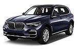 2019 BMW X5 x Line 5 Door SUV angular front stock photos of front three quarter view