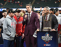 HOUSTON - OCTOBER 30: Kevin Burkhardt at World Series Game 7: Washington Nationals at Houston Astros on Fox Sports at Minute Maid Park on October 30, 2019 in Houston, Texas. (Photo by Frank Micelotta/Fox Sports/PictureGroup)