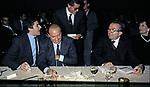 PIERFERDINANDO CASINI CON SILVIO BERLUSCONI E GIULIO ANDREOTTI<br /> HOTEL SHERATON ROMA 1994