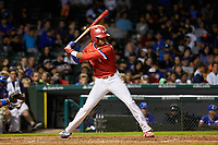 Jeremiah Jackson (1) of St. Luke's Episcopal High School in Mobile, Alabama during the Under Armour All-American Game presented by Baseball Factory on July 29, 2017 at Wrigley Field in Chicago, Illinois.  (Jon Durr/Four Seam Images)