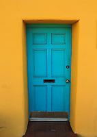 Turquoise Door - Yellow adobe - Arizona