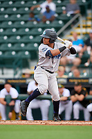 Tampa Tarpons Madison Santos (23) bats during Game One of the Low-A Southeast Championship Series against the Bradenton Marauders on September 21, 2021 at LECOM Park in Bradenton, Florida.  (Mike Janes/Four Seam Images)