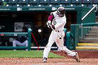 Travis McComack (31) of the Missouri State Bears makes contact during a game against the Oral Roberts Golden Eagles on March 27, 2011 at Hammons Field in Springfield, Missouri.  Photo By David Welker/Four Seam Images