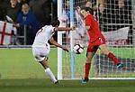 Nikita Parris of England has shot saved by Allysha Chapman of Canada