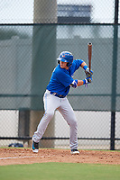 Toronto Blue Jays PK Morris (9) at bat during an Instructional League game against the Philadelphia Phillies on September 30, 2017 at the Carpenter Complex in Clearwater, Florida.  (Mike Janes/Four Seam Images)