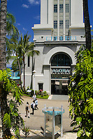The historic and scenic Aloha Tower beacons visitors from around the world. Located in downtown Honolulu,Oahu.