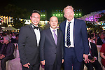 Tenniel Chu (left) and Boris Becker (right) during the Opening Ceremony of the the World Celebrity Pro-Am 2016 Mission Hills China Golf Tournament on 20 October 2016, in Haikou, China. Photo by Weixiang Lim / Power Sport Images