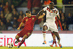 Spain's Nolito (l) and Germany's Rudiger during international friendly match.November 18,2014. (ALTERPHOTOS/Acero)