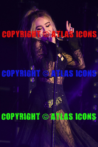MIAMI BEACH, FL - AUGUST 04: Sabrina Carpenter performs at the Fillmore on August 4, 2017 in Miami Beach, Florida. Credit Larry Marano © 2017