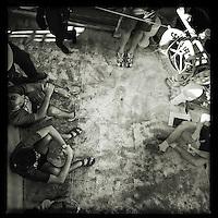 Sea Watch-2.<br /> Die Sea Watch-2 ist zu ihrer 13. SAR-Mission vor der libyschen Kueste.<br /> Im Bild: Mannschaftsbesprechung (Briefiing).<br /> 19.10.2016, Mediterranean Sea<br /> Copyright: Christian-Ditsch.de<br /> [Inhaltsveraendernde Manipulation des Fotos nur nach ausdruecklicher Genehmigung des Fotografen. Vereinbarungen ueber Abtretung von Persoenlichkeitsrechten/Model Release der abgebildeten Person/Personen liegen nicht vor. NO MODEL RELEASE! Nur fuer Redaktionelle Zwecke. Don't publish without copyright Christian-Ditsch.de, Veroeffentlichung nur mit Fotografennennung, sowie gegen Honorar, MwSt. und Beleg. Konto: I N G - D i B a, IBAN DE58500105175400192269, BIC INGDDEFFXXX, Kontakt: post@christian-ditsch.de<br /> Bei der Bearbeitung der Dateiinformationen darf die Urheberkennzeichnung in den EXIF- und  IPTC-Daten nicht entfernt werden, diese sind in digitalen Medien nach §95c UrhG rechtlich geschuetzt. Der Urhebervermerk wird gemaess §13 UrhG verlangt.]