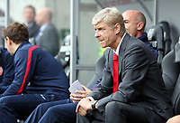 Saturday 28 September 2013<br /> Pictured: Arsenal manager Arsene Wenger<br /> Re: Barclay's Premier League, Swansea City FC v Arsenal at the Liberty Stadium, south Wales.