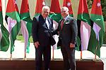 Palestinian President, Mahmoud Abbas meets with Jordanian King Abdullah II, in Amman, Jordan, on August 15, 2021. Photo by Thaer Ganaim