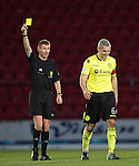 St Johnstone v St Mirren.....11.01.14   SPFL<br /> Ref Calum Murray books Jim Goodwin<br /> Picture by Graeme Hart.<br /> Copyright Perthshire Picture Agency<br /> Tel: 01738 623350  Mobile: 07990 594431