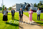 Norma Foley Minister for Education announcing the new extension that will be built in the CBS the Green on Friday. L to r: Norma Foley TD, Cllr Fionnán Fitzgerald, Sean Spillane, Ann O'Callaghan (Principal) and Robert Flaherty,