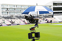Batcam, complete with umbrella during India vs New Zealand, ICC World Test Championship Final Cricket at The Hampshire Bowl on 18th June 2021