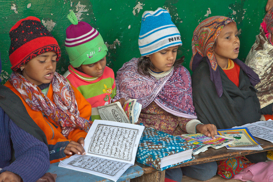 Girl Madrasa Students, Madrasa Islamia Arabia Izharul-Uloom, Dehradun, India.