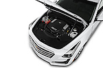Car Stock 2016 Cadillac CTS Luxury Collection 4 Door sedan Engine  high angle detail view
