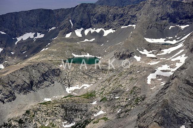 High mountain lake. Sangre de Cristo mountains, Colorado