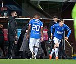 13.12.2020 Dundee Utd v Rangers: Alfredo Morelos subbed for Cedric Itten