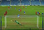 25.02.2021 Rangers v Royal Antwerp: Borna Barisic scores from the spot