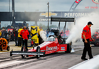 Sep 1, 2017; Clermont, IN, USA; NHRA top fuel driver Kyle Wurtzel during qualifying for the US Nationals at Lucas Oil Raceway. Mandatory Credit: Mark J. Rebilas-USA TODAY Sports