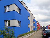 Bauhaussiedlung Italienischer Garten von Otto Haesler 1924/25, Celle, Niedersachsen, Deutschland, Europa<br /> Bauhaus housing complexItalian Garden by Otto Haesler 1924/1925, Celle, Lower Saxony, Germany, Europe