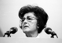 Montreal (Qc) CANADA - 1987 File Photo - - New Democratic Party (NDP) Convention  - Shirley Carr