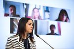 Ciudadanos'  (Cs) President Ines Arrimadas in press conference. April 12, 2021. (ALTERPHOTOS/Ciudadanos/Pool)