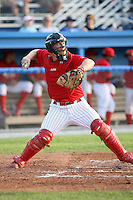 June 25th 2008:  Catcher Blake Murphy (35) of the Batavia Muckdogs, Class-A affiliate of the St. Louis Cardinals, during a game at Dwyer Stadium in Batavia, NY.  Photo by:  Mike Janes/Four Seam Images