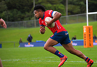 Leicester Fainga'anuku in action during the Mitre 10 Cup rugby match between Wellington Lions and Tasman Makos at Jerry Collins Stadium in Wellington, New Zealand on Saturday, 31 October 2020. Photo: Dave Lintott / lintottphoto.co.nz