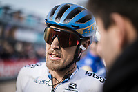 Matteo Trentin (ITA/Mitchelton Scott), post race<br /> <br /> 117th Paris-Roubaix (1.UWT)<br /> 1 Day Race: Compiègne-Roubaix (257km)<br /> <br /> ©kramon
