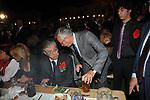 UMBERTO BOSSI CON GIULIO TREMONTI<br /> FESTA RIUNIFICAZIONE  A VILLA ALMONE RESIDENZA AMBASCIATORE TEDESCO -  ROMA  OTTOBRE 2008