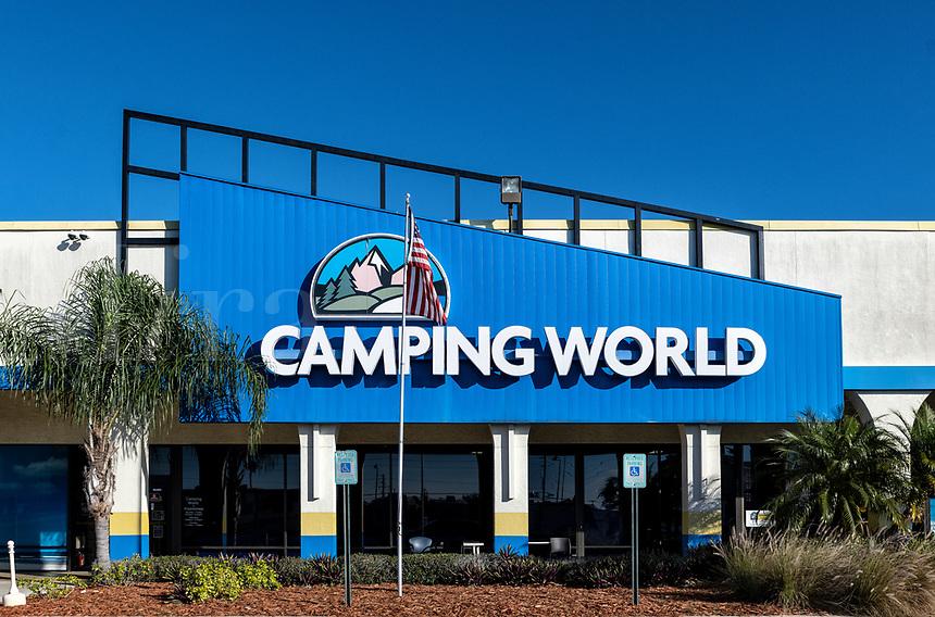 Camping World RV dealership in Kissimmee, Flotida, USA.