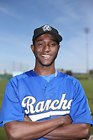 Yadier Alvarez (40) of the Rancho Cucamonga Quakes poses for a photo before a game against the Lancaster JetHawks at The Hanger on April 28, 2017 in Lancaster, California. Lancaster defeated Rancho Cucamonga 16-10. (Larry Goren/Four Seam Images)