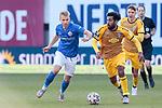 20.02.2021, xtgx, Fussball 3. Liga, FC Hansa Rostock - SV Waldhof Mannheim, v.l. Simon Rhein (Rostock), Mohamed Gouaida (Mannheim, 18) Zweikampf, Duell, Kampf, tackle <br /> <br /> (DFL/DFB REGULATIONS PROHIBIT ANY USE OF PHOTOGRAPHS as IMAGE SEQUENCES and/or QUASI-VIDEO)<br /> <br /> Foto © PIX-Sportfotos *** Foto ist honorarpflichtig! *** Auf Anfrage in hoeherer Qualitaet/Aufloesung. Belegexemplar erbeten. Veroeffentlichung ausschliesslich fuer journalistisch-publizistische Zwecke. For editorial use only.