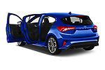 Car images close up view of a 2018 Ford Focus ST Line Business 4 Door Hatchback doors