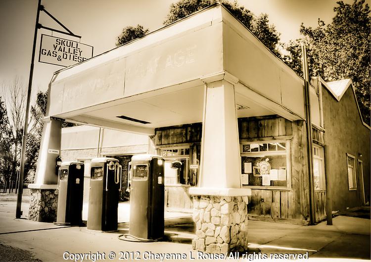 Skull Valley Garage - Arizona (Sepia) Gas Station