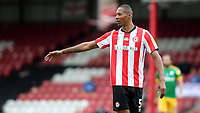 Ethan Pinnock of Brentford during Brentford vs Preston North End, Sky Bet EFL Championship Football at Griffin Park on 15th July 2020
