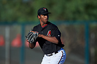 AZL D-backs starting pitcher Gerald Ogando (31) during an Arizona League game against the AZL Angels on July 20, 2019 at Salt River Fields at Talking Stick in Scottsdale, Arizona. The AZL Angels defeated the AZL D-backs 11-4. (Zachary Lucy/Four Seam Images)