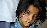 A girl in Suto Orizari, Macedonia. The mostly Roma community, located just outside Skopje, is Europe's largest Roma settlement. .