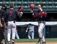 STANFORD, CA - JUNE 4: Brock Jones, Tim Tawa during a game between North Dakota State and Stanford Baseball at Sunken Diamond on June 4, 2021 in Stanford, California.